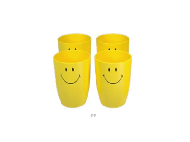 Conjunto de 4 Copos Coza Smiley 400ML Cada