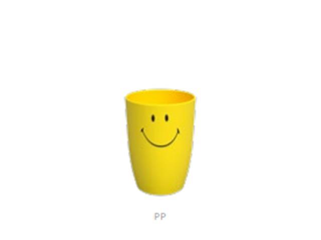 Copo Coza Smiley Amarelo 275ML