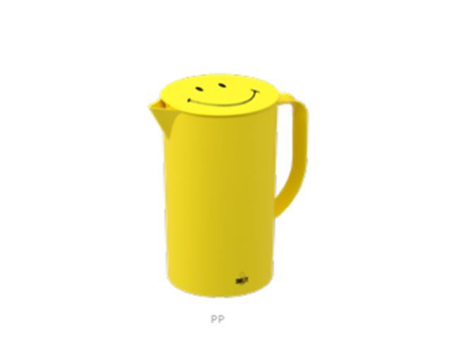 Jarra Casual com Tampa Coza Smiley Amarela 2 Litros
