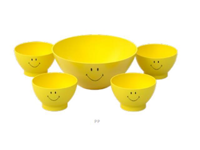 Kit Coza Smiley Tigela para Pipoca + 4 Cumbucas