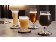 Conjunto Haus de Copos para Cerveja + Descansos de Copos 8 Peças