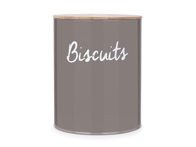 Pote Redonda para Biscoitos Haus Canister Warm Gray 13x17CM