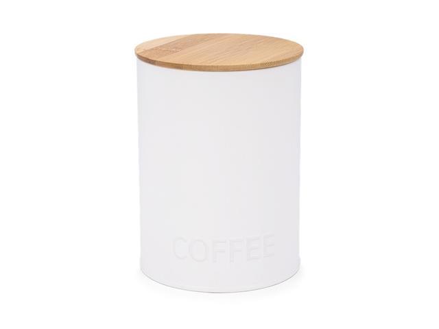 Pote Redondo para Café Haus Canister Branco 11x15CM