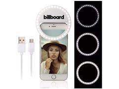 Luminária LED Selfie Ring Light Billboard Recarregável com Clipe - 2