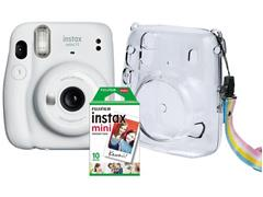 Kit Câmera Instax Mini 11 com Pack 10 Fotos e Bolsa Crystal Branca - 2