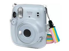 Kit Câmera Instax Mini 11 com Pack 10 Fotos e Bolsa Crystal Branca
