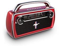 Rádio Bluetooth AM/FM Portátil ION Ford Mustang Bateria Recarregável