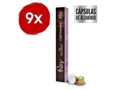 Kit Café Ruiz Gourmet com 9 caixas de 10 cápsulas 55g