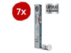 Kit Café Ruiz Premium Fattoria com 7 caixas de 10 cápsulas 55g