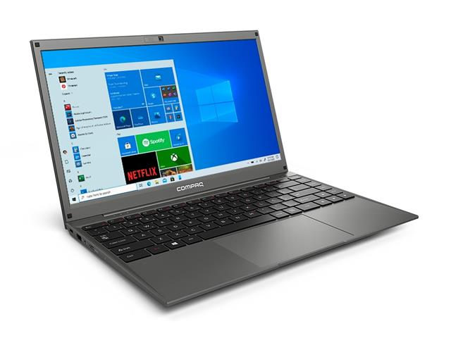 "Notebook Compaq Presario Intel® Core® i3 4GB SSD 120GB 14.1"" W10 Cinza"