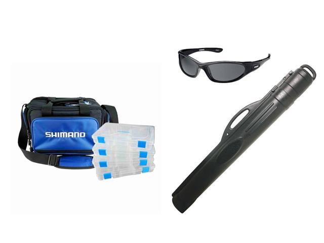 Combo Óculos Polarizado para Pesca Shimano + Bolsa e Porta Varas