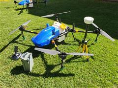 Drone de Pulverização Eavision E-2021 Carregador 4 Baterias Base RTK - 1