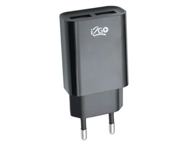 Carregador De Parede Com 2 Saídas USB I2GO Plus