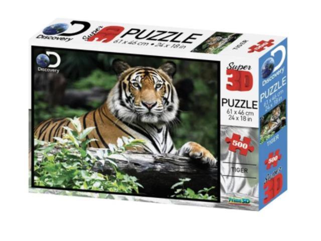 Quebra Cabeça Super 3D Multilaser BR1059 Tigre 500 Peças