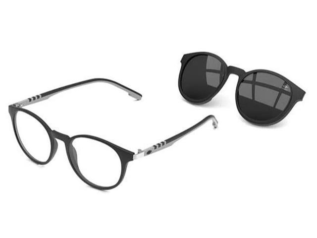 Óculos de Grau Mormaii Swap 2 Preto Fosco com Cinza Fosco