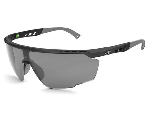 Óculos de Sol Mormaii Leap Preto Fosco Lente Cinza Flash Prata
