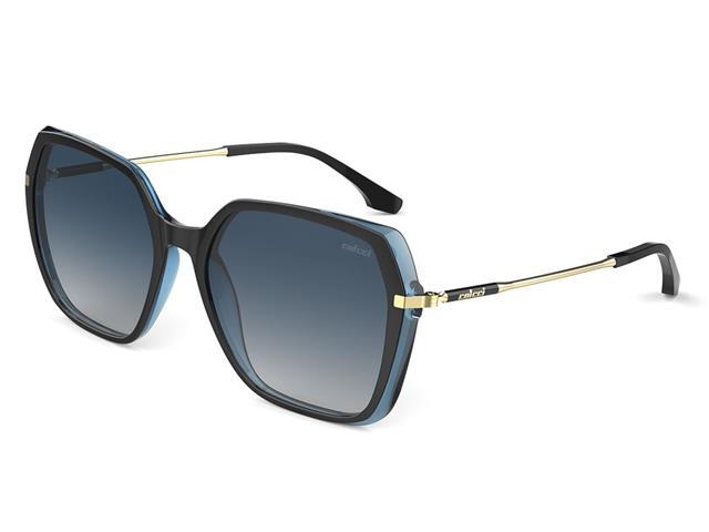 Óculos de Sol Colcci Stela Preto Parede Azul Brilho Lente Degradê