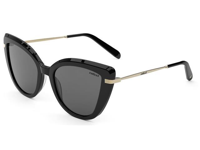 Óculos de Sol Colcci Manu Preto Brilho Lente Cinza