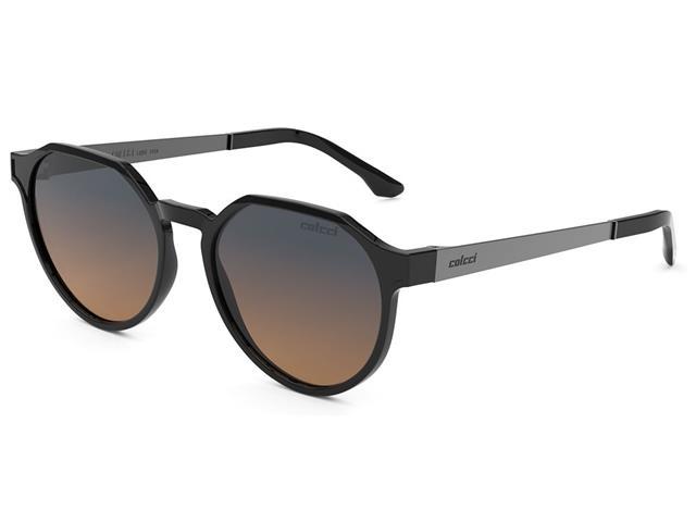 Óculos de Sol Colcci Noa Preto Brilho Lente Laranja