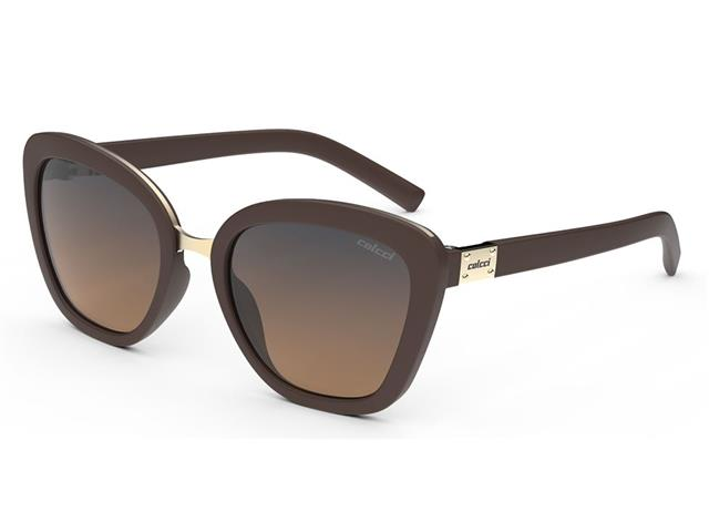 Óculos de Sol Colcci Céu Marrom Fech Fosco Lente Laranja Degradê