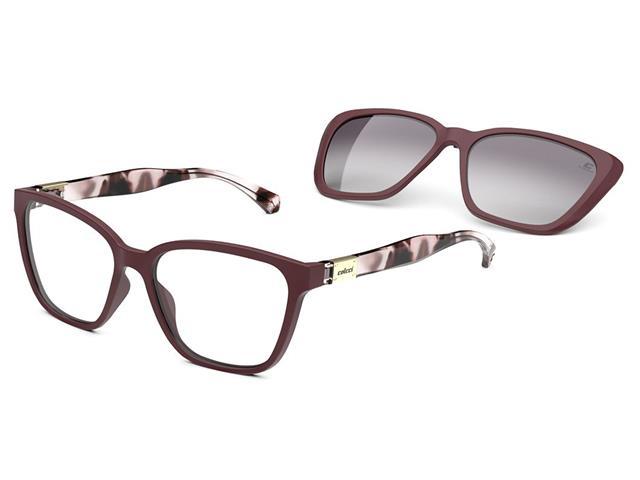 Óculos de Grau Colcci Bandy 3 Marsala Fosco
