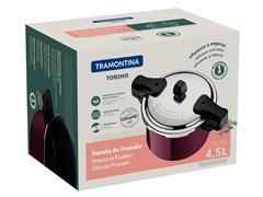 Panela de Pressão Tramontina Torino Vermelho Framboesa 20CM 4,5 Litros - 5