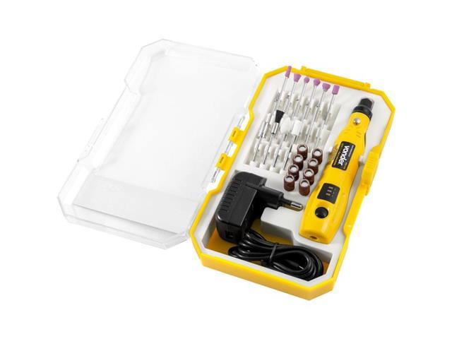 Microrretífica Vonder a bateria 3.6V Bivolt com 24 Acessórios