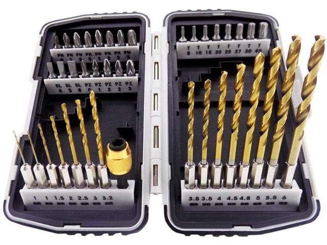 Jogo de Bits e Brocas MTX com Adaptador Magnético 40 Peças