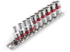 Jogo de Soquetes MTX Sext 4-13 MM CRV 1/4 Polegadas 10 Peças - 1