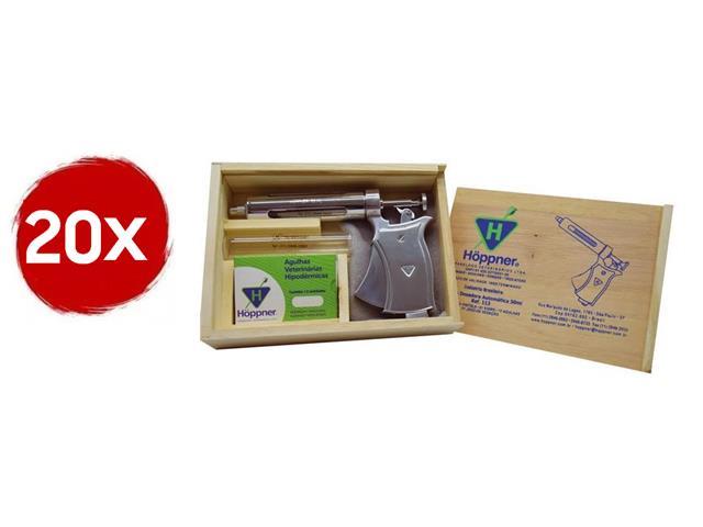 Combo 20 Seringas Automáticas de Vacinação Hoppner 50ml com Estojo