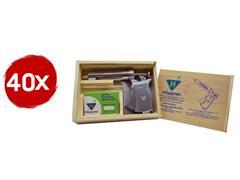 Combo 40 Seringas Automáticas de Vacinação Hoppner 50ml com Estojo