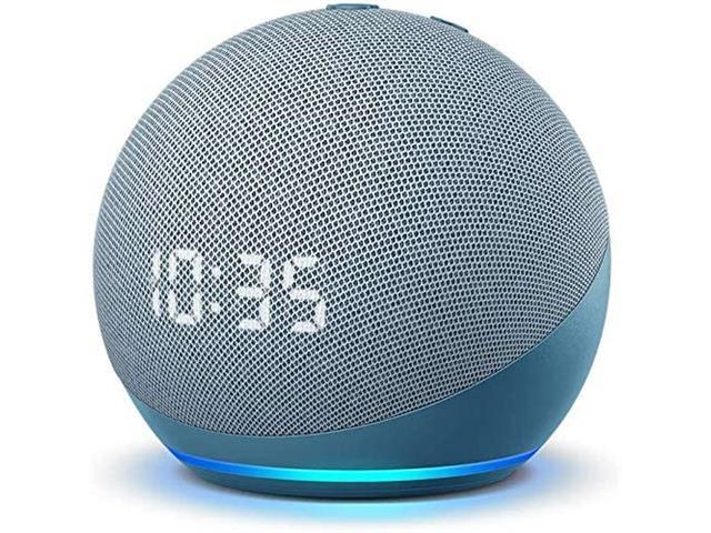 Echo Dot (4ta Gen) - Bocina inteligente con reloj y Alexa - Azul
