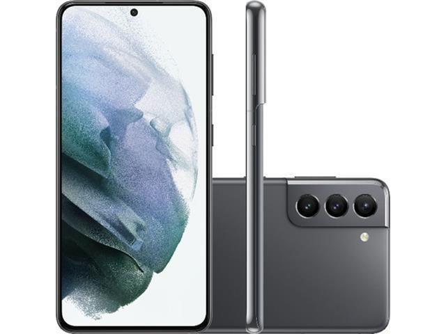 "Smartphone Samsung Galaxy S21 5G 128GB 6.2"" 64+12+12MP Cinza+Powerbank"