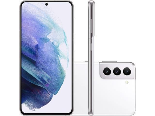 "Smartphone Samsung Galaxy S21 5G 128GB 6.2""64+12+12MP Branco+Powerbank"
