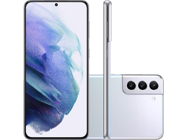 "Smartphone Samsung Galaxy S21+ 5G 128GB 6.7""64+12+12MP Prata+Powerbank"