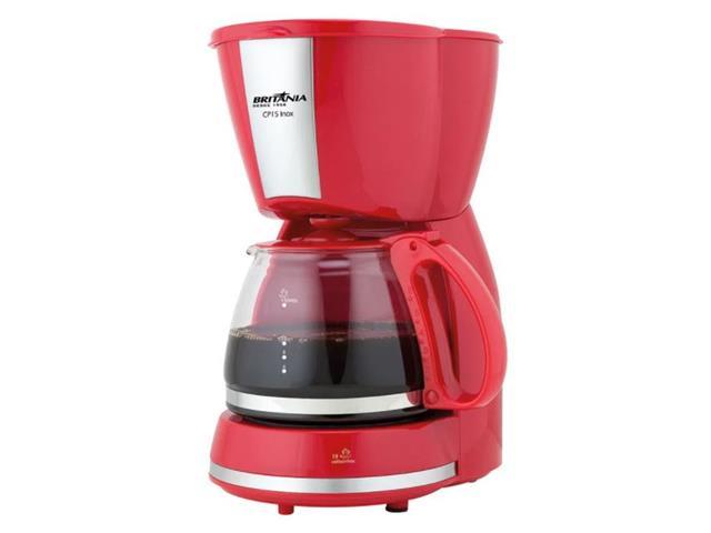 Cafeteira Britânia CP15 Inox Vermelha 550W