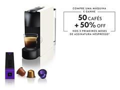 Cafeteira Nespresso Automática Essenza Kit Boas Vindas Mini White