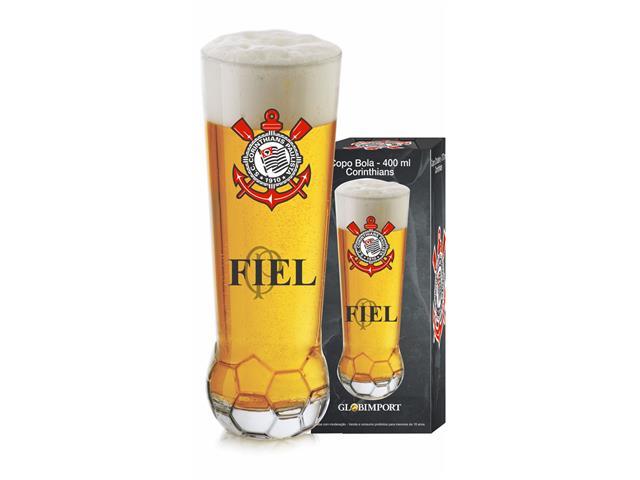 Copo para Cerveja em Formato de Bola Corinthians 370ML