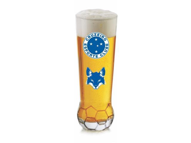 Copo para Cerveja em Formato de Bola Brasão Cruzeiro 370ML