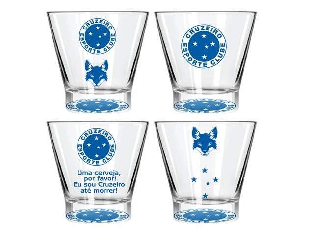 Kit Caipirinha Cruzeiro com 4 Copos York de 350ML Cada
