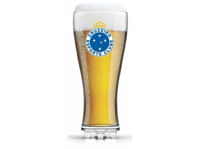 Copo para Cerveja em Formato de Chuteira Brasão Cruzeiro 370ML