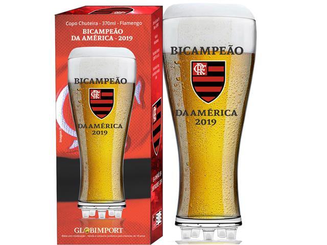 Copo para Cerveja em Formato de Chuteira Flamengo Bicampeão 370ML