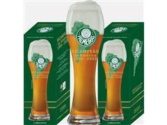 Copo para Chopp Weiss Beer Palmeiras Bicampeão das Américas 670ML