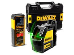 Combo DeWalt Medidor à Laser 30M + Trena Laser + Caixa TSTAK