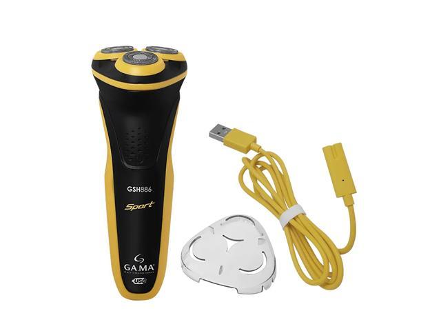 Barbeador Elétrico Gama GSH886 Sport Bivolt USB Preto e Amarelo