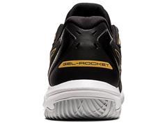 Tênis Asics Gel-Rocket 10 Black/Pure Gold Masculino - 3