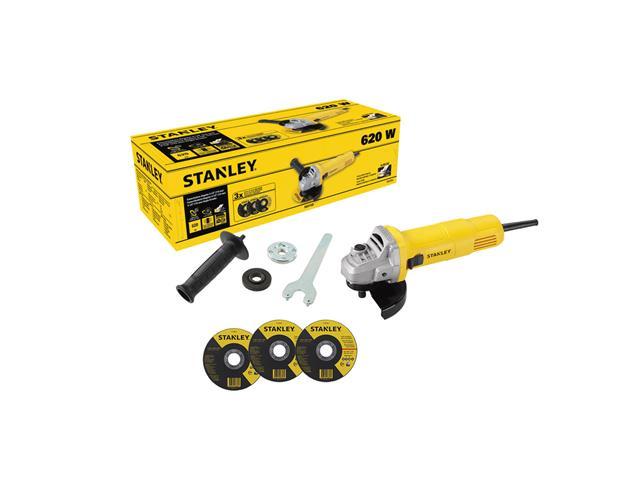 """Esmerilhadeira Angular 1/2"""" Stanley com 3 Discos 620W"""