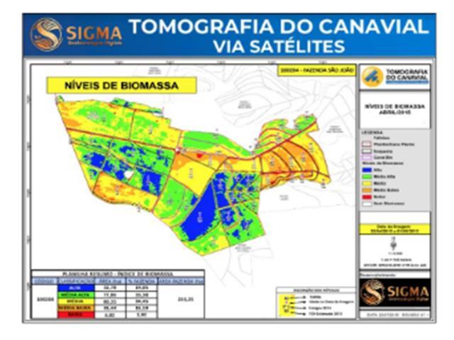 Customizado Tomografia do Canavial via Satélite 2021