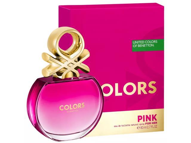 Perfume Benetton Colors Pink Eau de Toilette Feminino 80ML