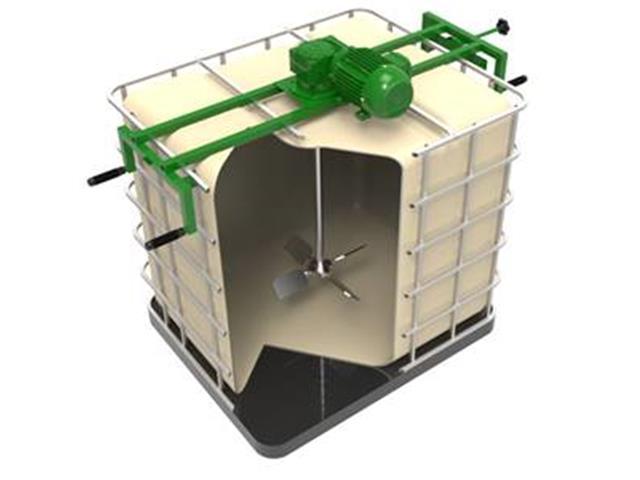 Agitador/Misturador Lento Grabe FluxoMix C4R-020S com Suporte para IBC